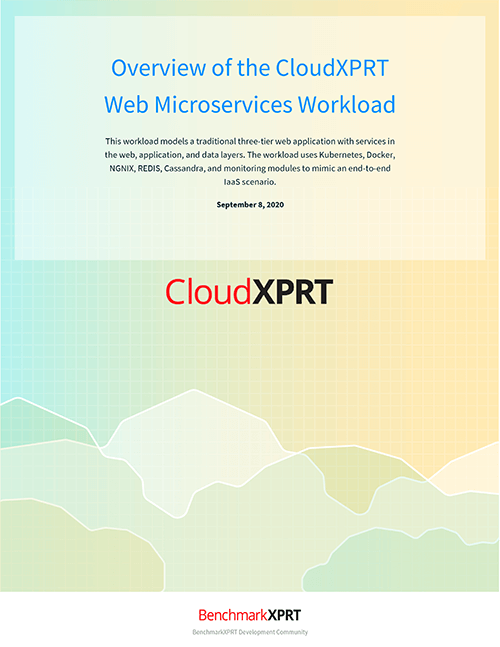 CloudXPRT web microservices
