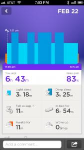 Data from a night's sleep