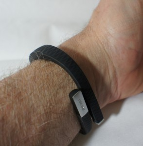 How the Jawbone Up looks on my wrist