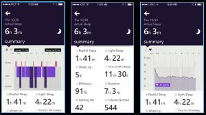 Screen shots of my sleep cycle summary.